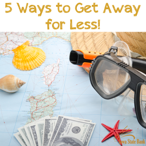 Get away from the real world for a bit and take a thrifty vacation.